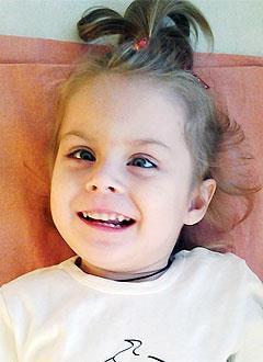 Ангелина Мясоедова, 5 лет, детский церебральный паралич,  эпилепсия, требуется лечение. 199430 руб.